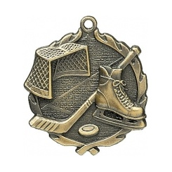"2½"" Hockey Sculptured Medal"