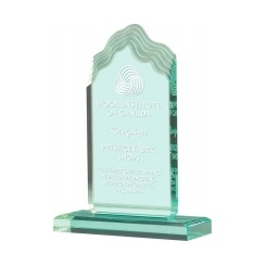 Jade Wave Acrylic Award